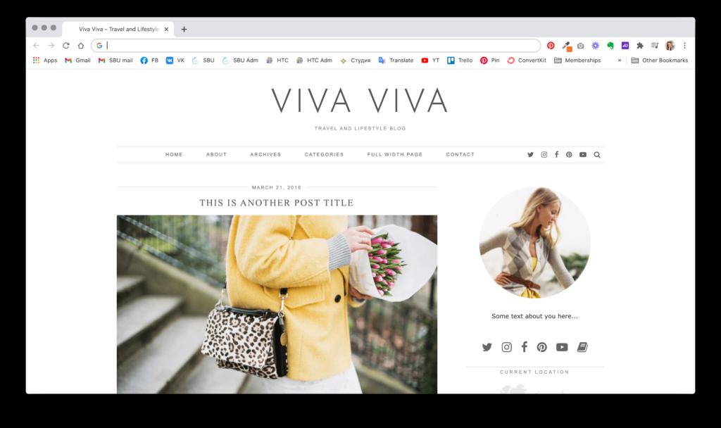 Женские шаблоны WordPress для творческих сайтов | Блог Варвары Лялягиной StartBlogUp.com